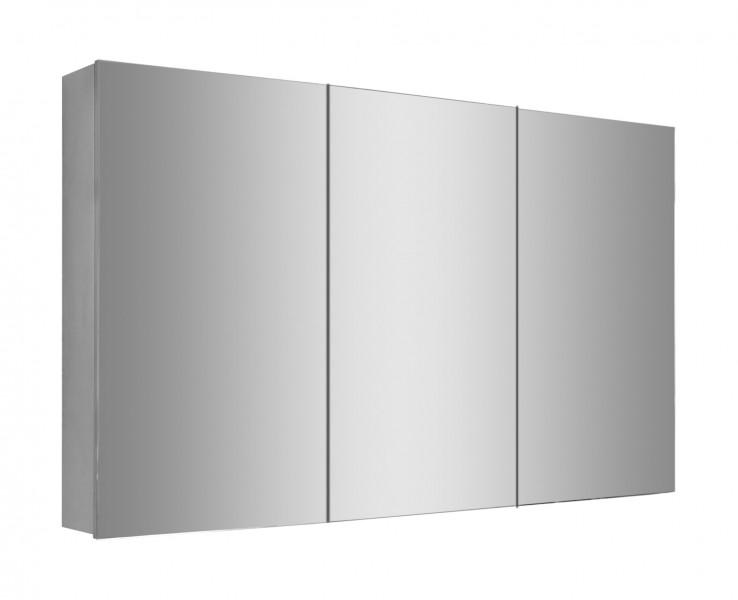 Spiegelschrank Multy BS120 aus Aluminium - Breite 120cm