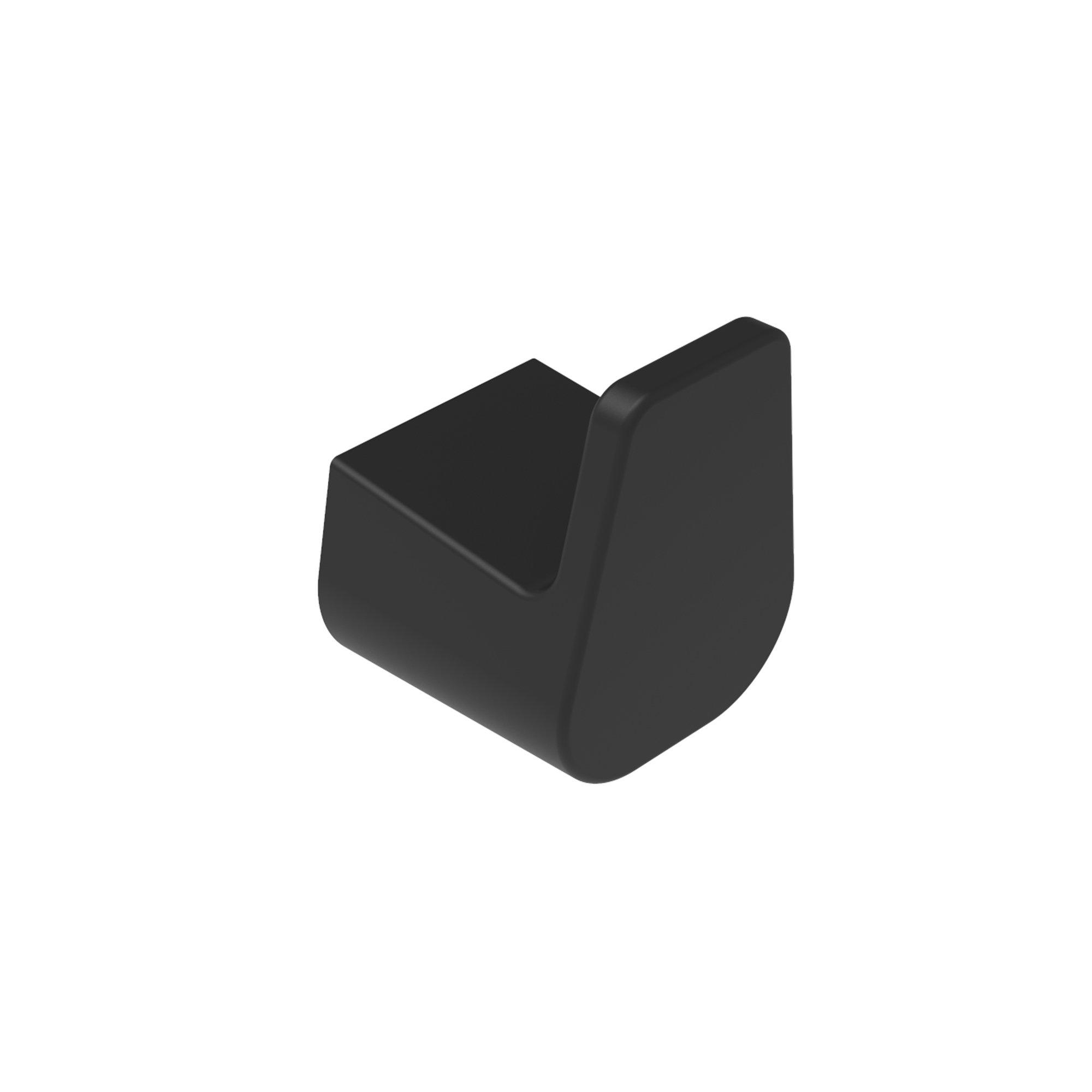 Hochwertiger Handtuchhaken SDEHH in Schwarz Matt– edles Design – Serie ES