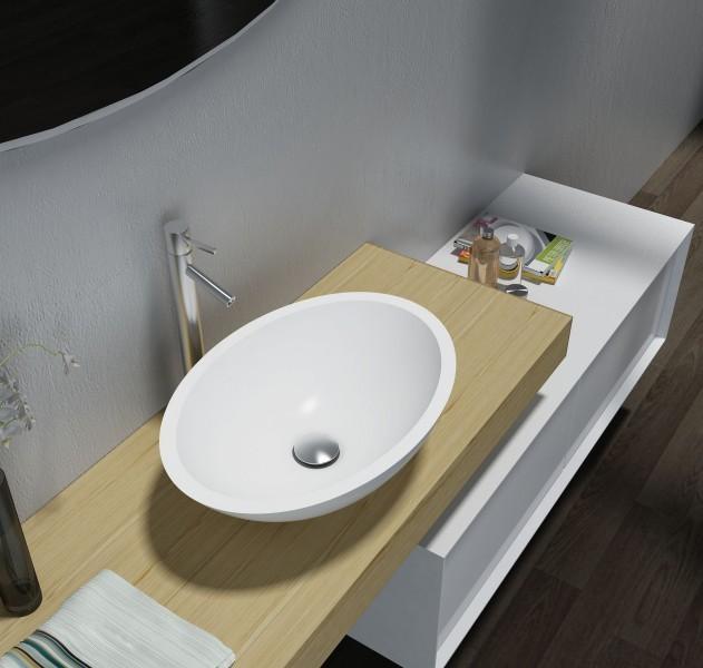 Aufsatzwaschbecken TW2106 aus Mineralguss Pure Acrylic - Matt - 50 x 35 x 15 cm zoom thumbnail 6