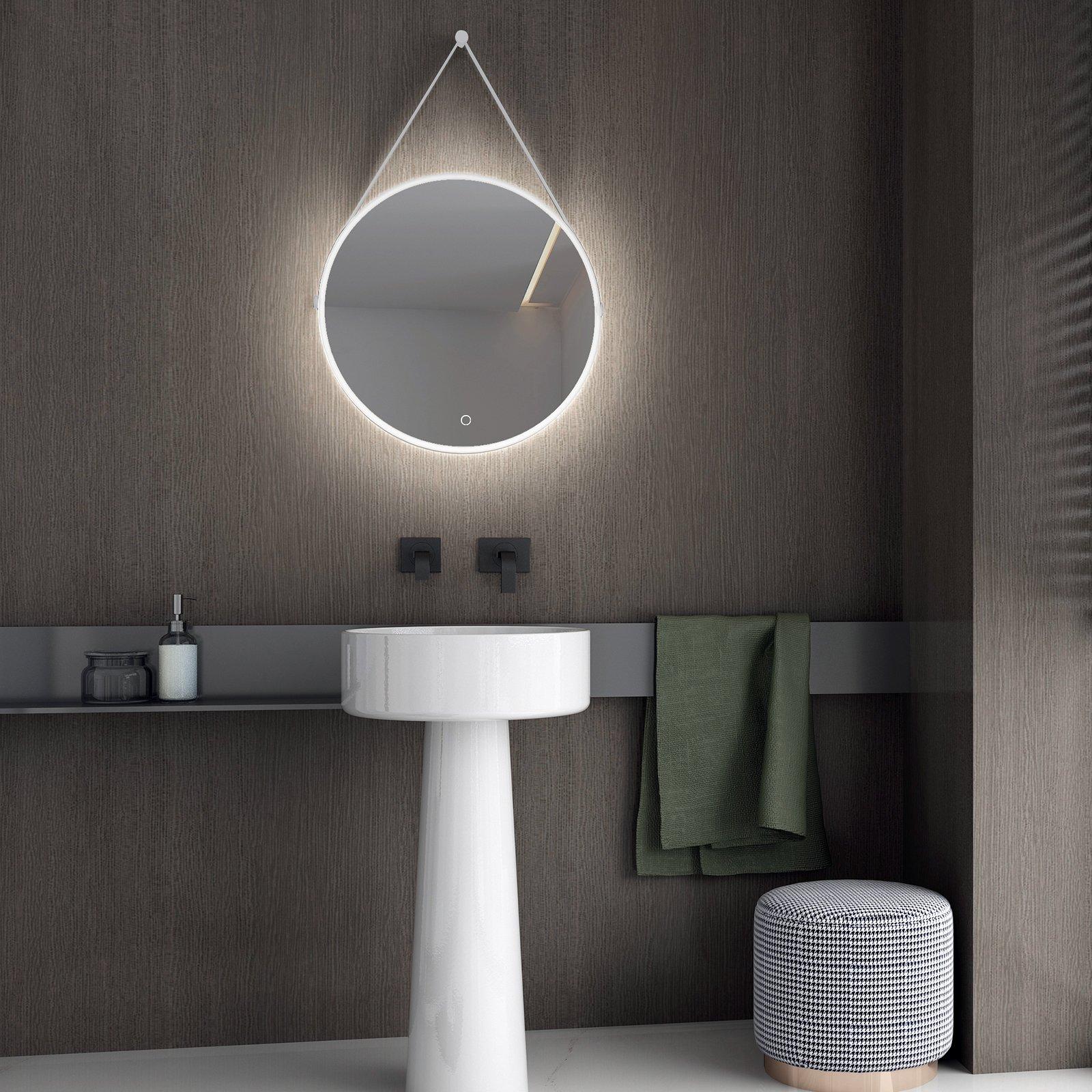 LED Lichtspiegel Badspiegel 2884 mit Spiegelheizung & Warm-/Kaltlichteinstellung - Rund Ø 60 cm