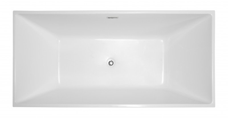 Freistehende Badewanne COMFORT aus Sanitäracryl - 170x80x60cm - Standarmatur optional wählbar zoom thumbnail 3