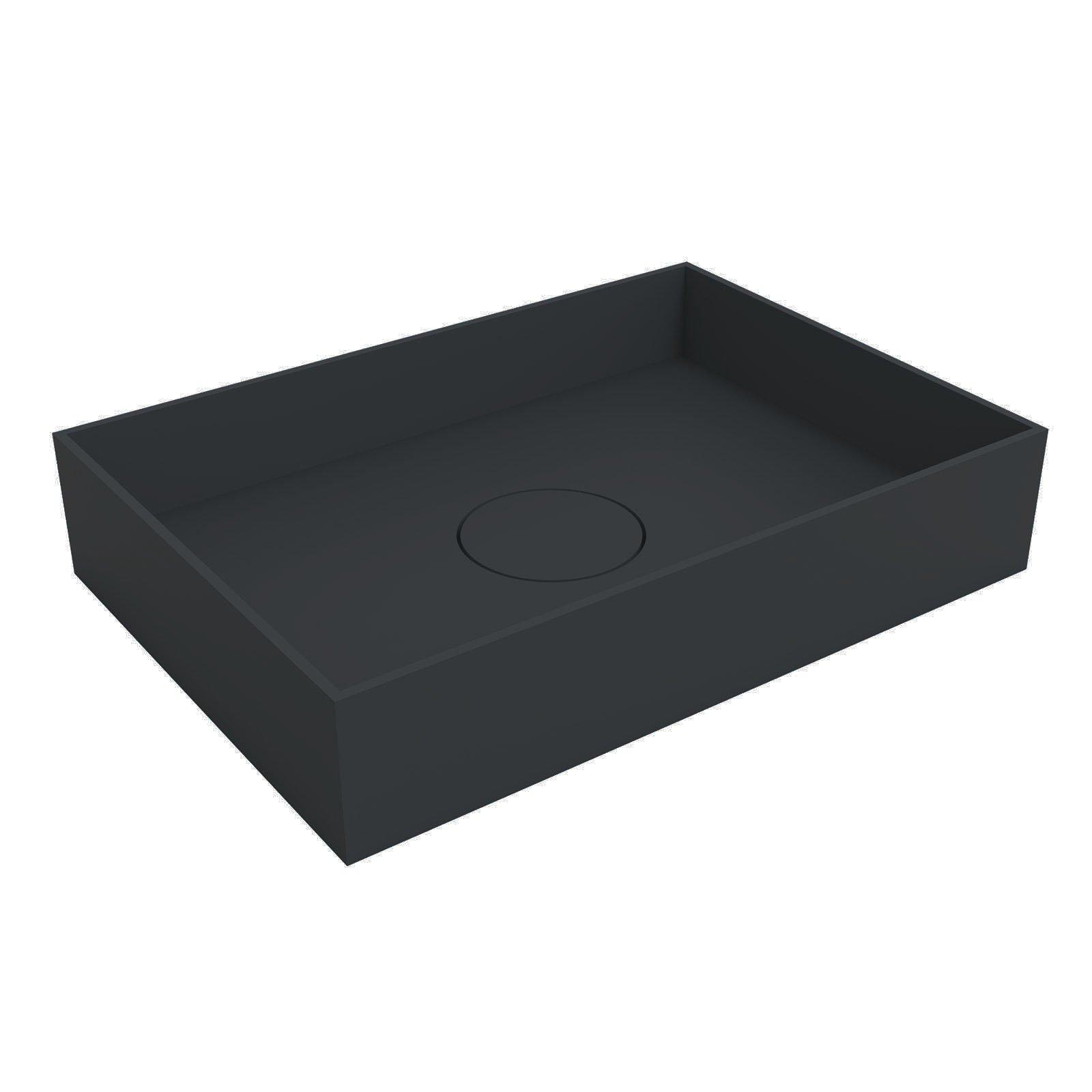 Aufsatzwaschbecken aus Mineralguss TWA112 - Breite & Farbe wählbar