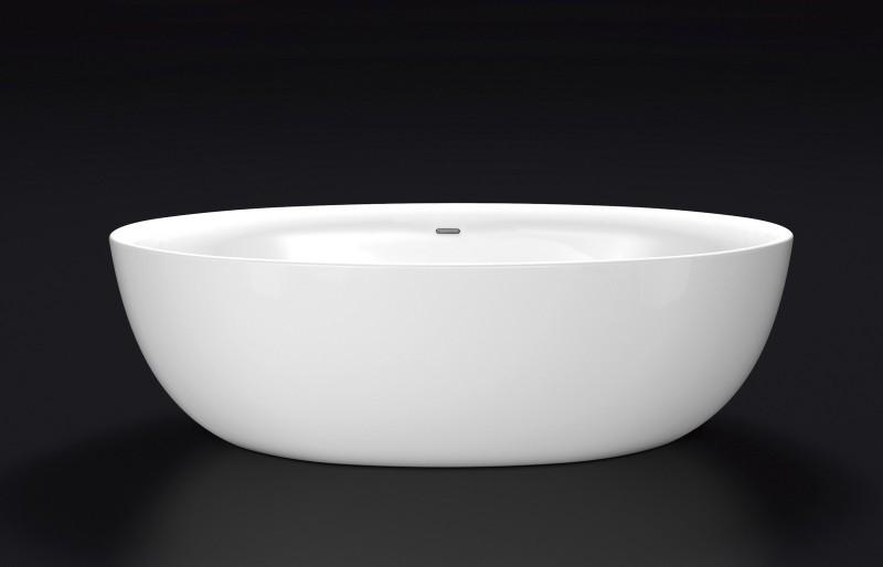 Freistehende Badewanne TERRA Acryl - 186 x 88 cm - Weiß glänzend zoom thumbnail 5