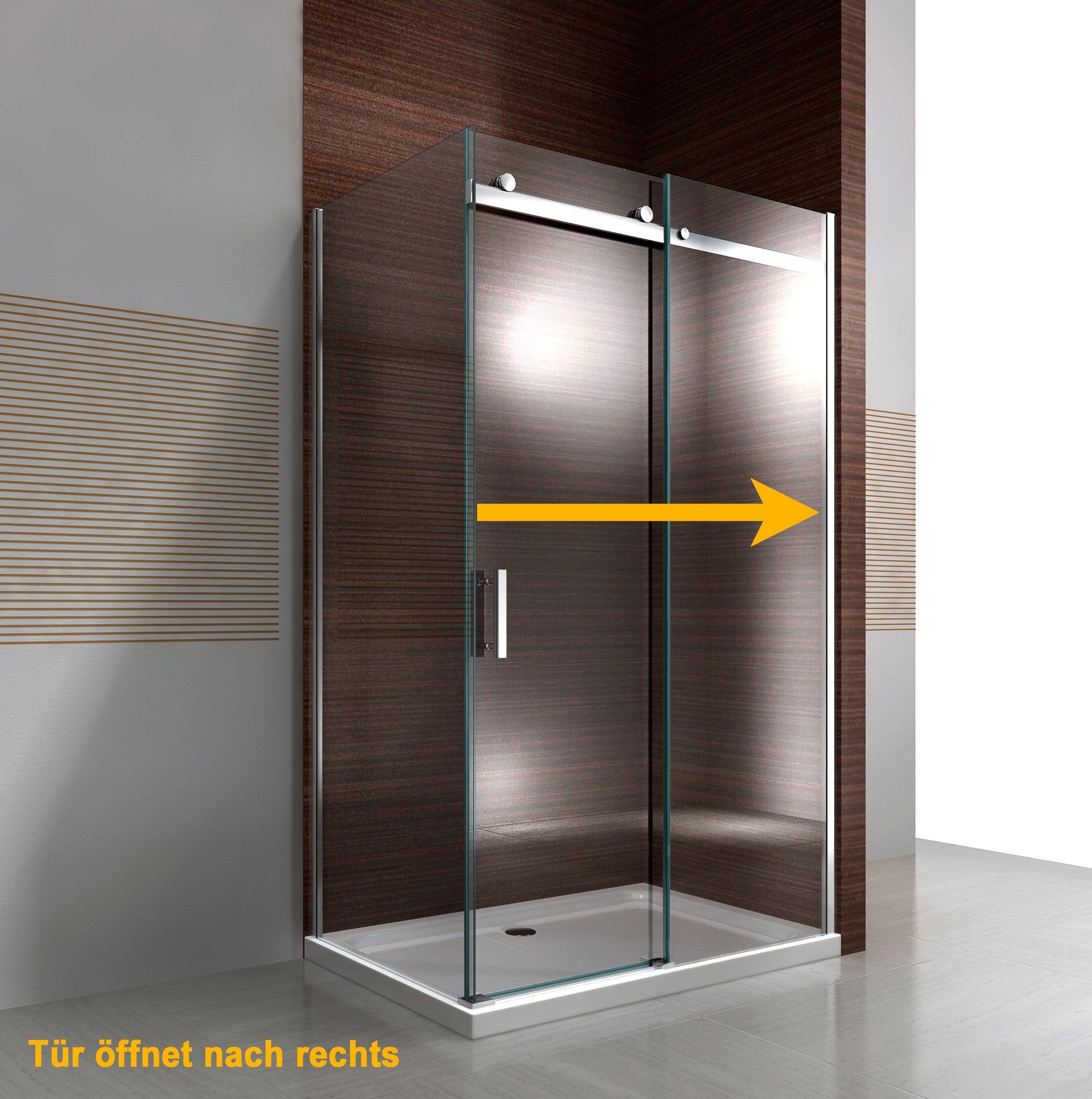 Duschkabine Nano Echtglas EX806 Schiebetür - 90 x 120 x 195 cm zoom thumbnail 3