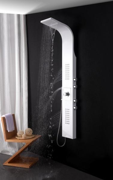 Duschpaneel Edelstahl weiß Duschsystem mit SEDAL-Thermostat Duschsäule 8815 zoom thumbnail 5
