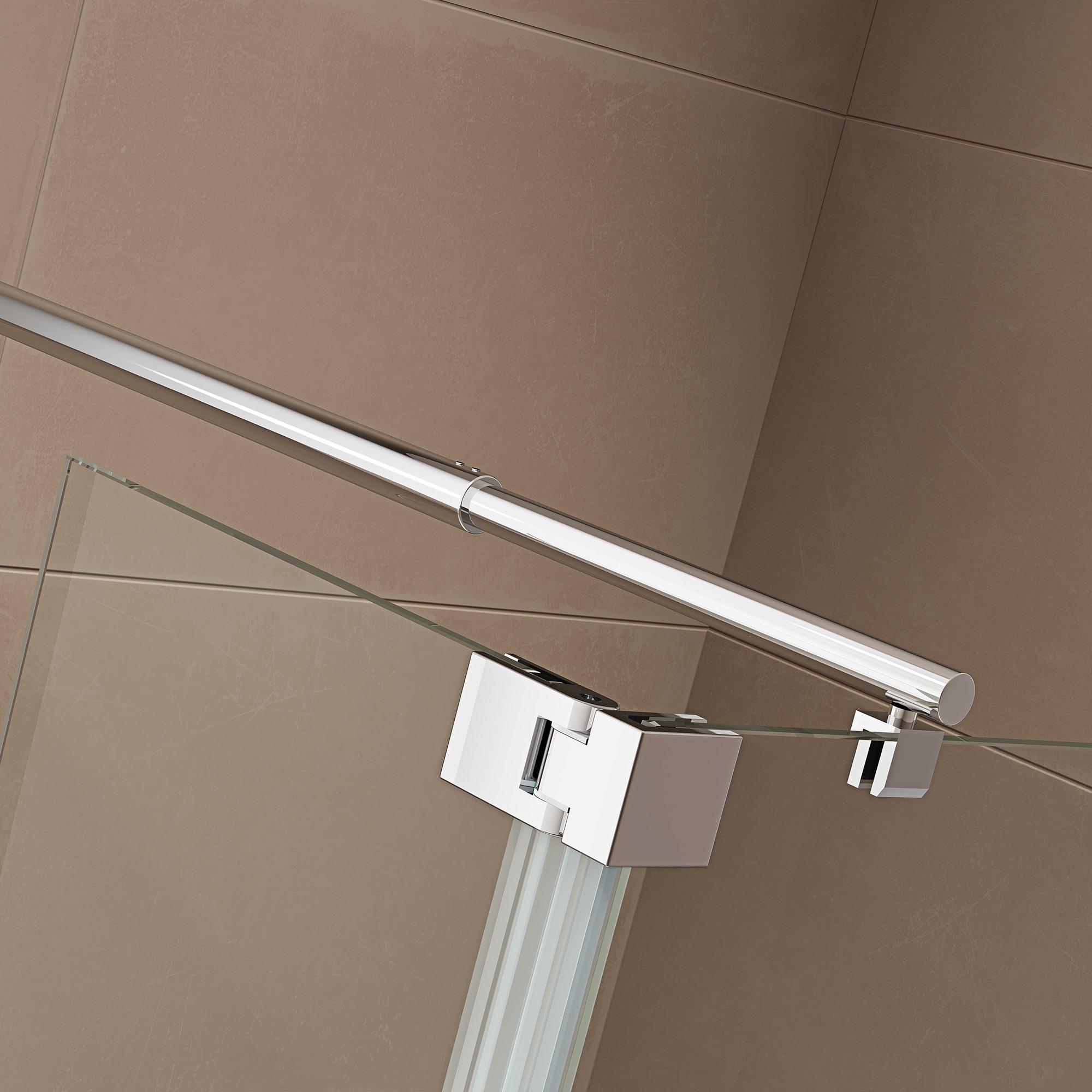 Duschabtrennung Walk-In-Dusche mit Spritzschutz NT109 8mm ESG-Glas  zoom thumbnail 5