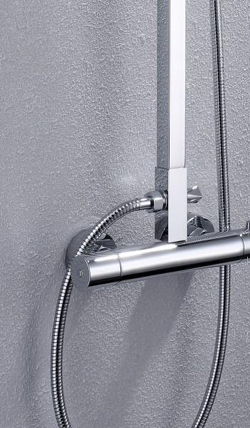 Design-Duschsystem Duschsäule Thermostat 8821C Basic - Auswahl Duschkopf eckig zoom thumbnail 3