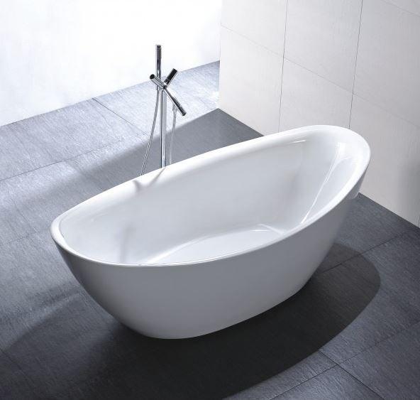 Freistehende Badewanne Acryl BELLAGIO weiß glänzend - 180 x 86 cm - Zubehör optional zoom thumbnail 3