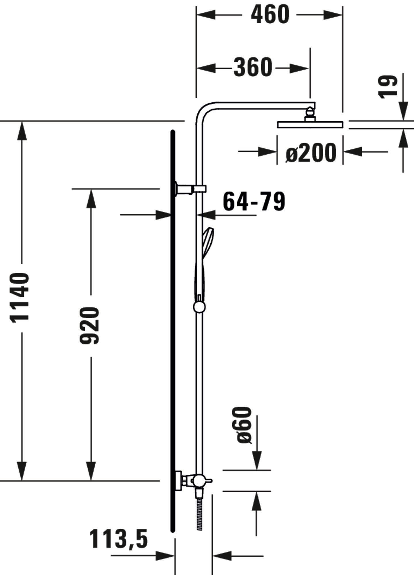 Duravit B.2 Duschsystem Chrom Hochglanz 260 zoom thumbnail 6
