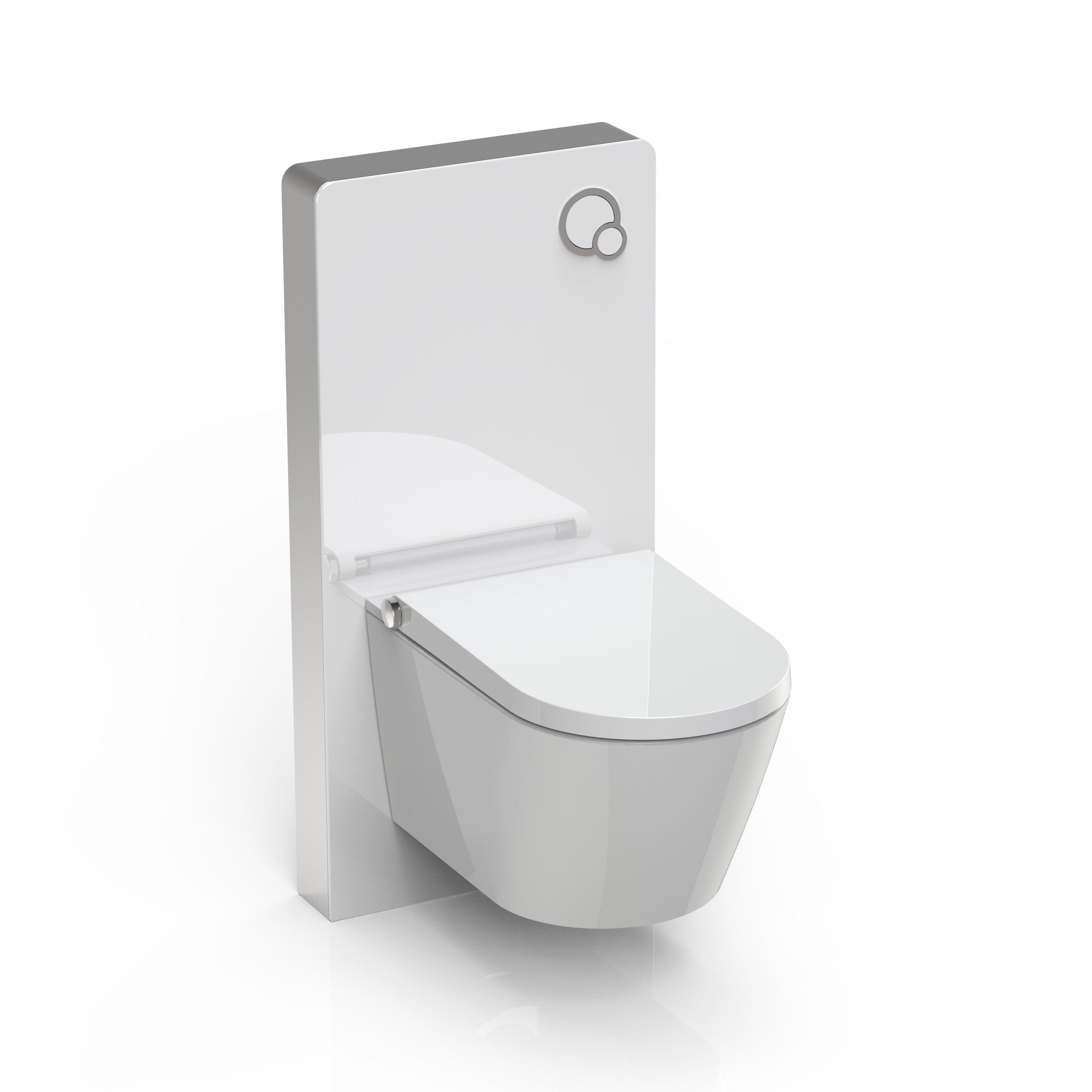 Sanitärmodul 805 für Wand-WC - Weiß - Inkl. Betätigungsplatte zoom thumbnail 4