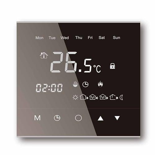 Touch-Screen Thermostat WL-6T schwarz für elektrische Fußbodenheizung mit TWIN-Technologie