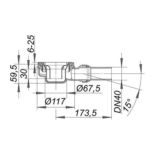 Dallmer Duschwannenablauf ORIO 60 für Duschtassen mit 90mm Ablaufloch - Kugelgelenk verstellbar von 0 - 15 Grad zoom thumbnail 3