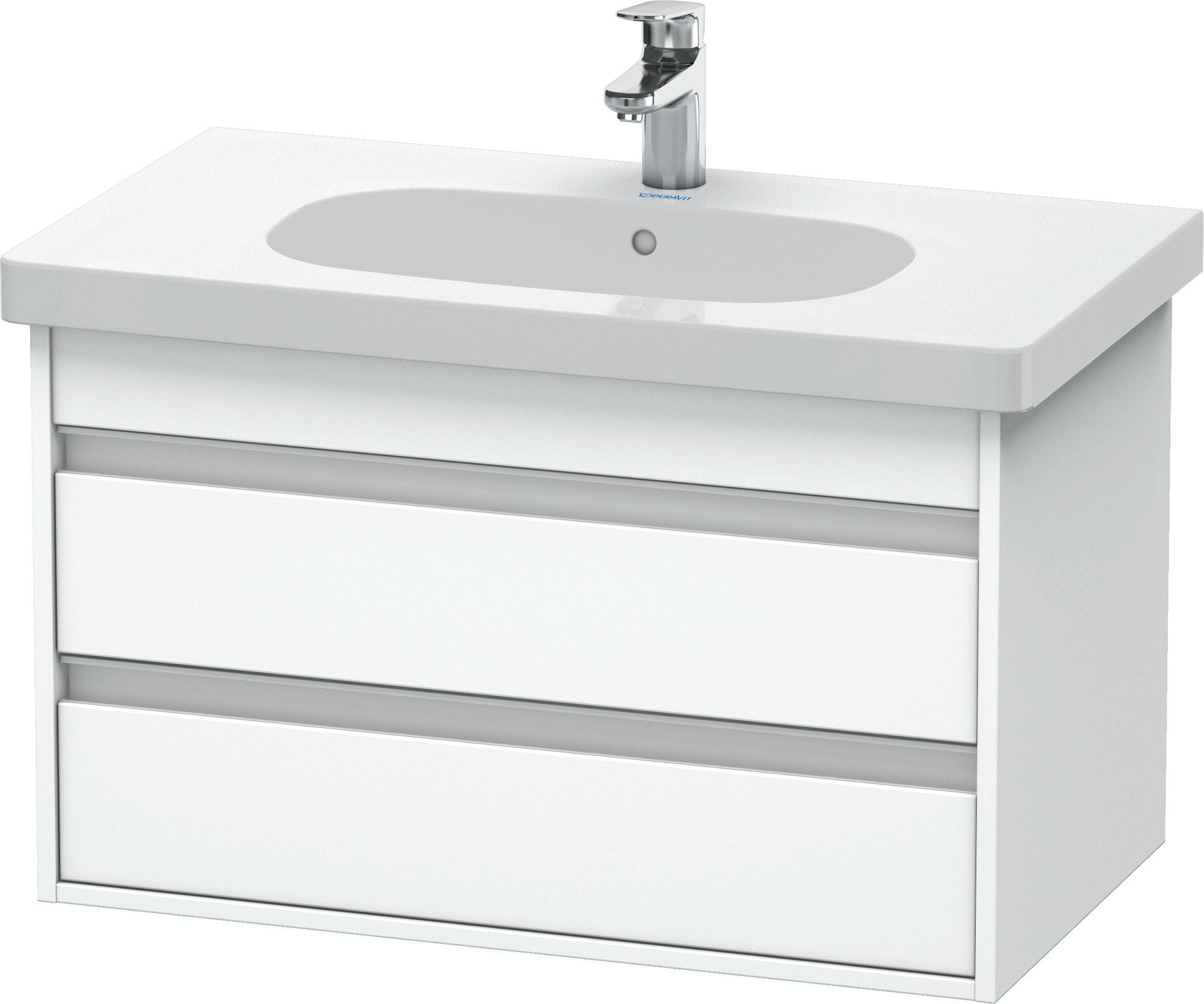 Duravit Ketho Badmöbel Set 800 mit D-Code Waschtisch - Optional mit Seitenschrank und Spiegel