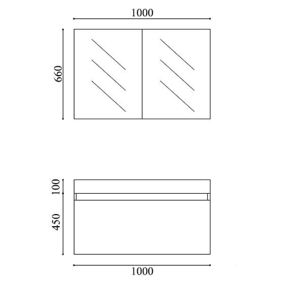 Badmöbel-Set A1000 Basic Weiß inkl. Spiegelschrank zoom thumbnail 5