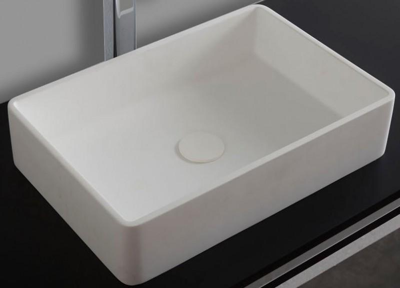 Waschbecken Pop-up Blende aus Mineralguss für Ablaufgarnitur - Farbe Weiß Matt zoom thumbnail 3