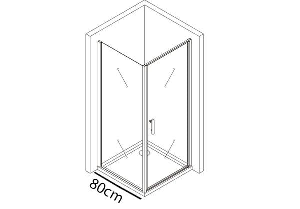 Festes Glas 80cm
