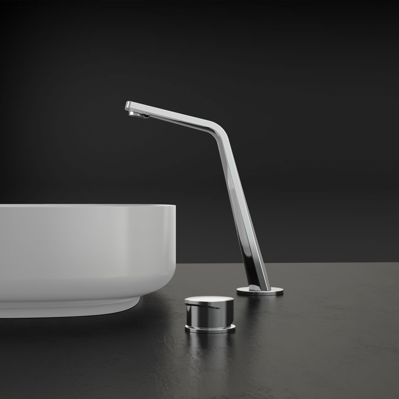 Design Waschtischarmatur Badarmatur XELO-Flex 260 - Hoher Auslauf - Chrom