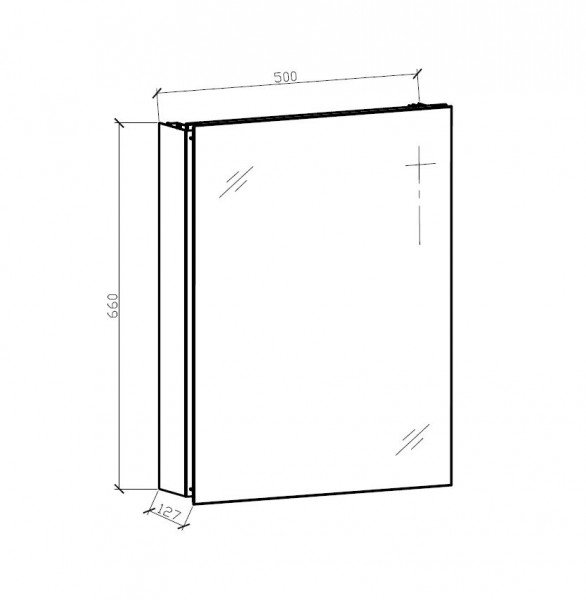 Aluminium-Spiegelschrank G500 - innen und außen Spiegel zoom thumbnail 4