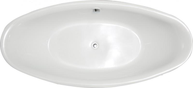 Freistehende Badewanne Acryl BELLAGIO weiß glänzend - 180 x 86 cm - Zubehör optional zoom thumbnail 5