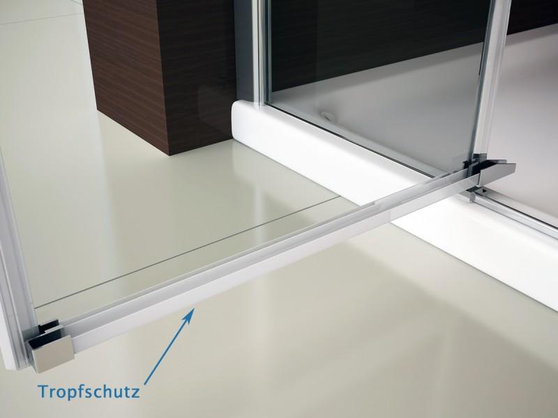 Duschkabine Eckdusche 8 mm Nano Echtglas DX403 - Breite wählbar