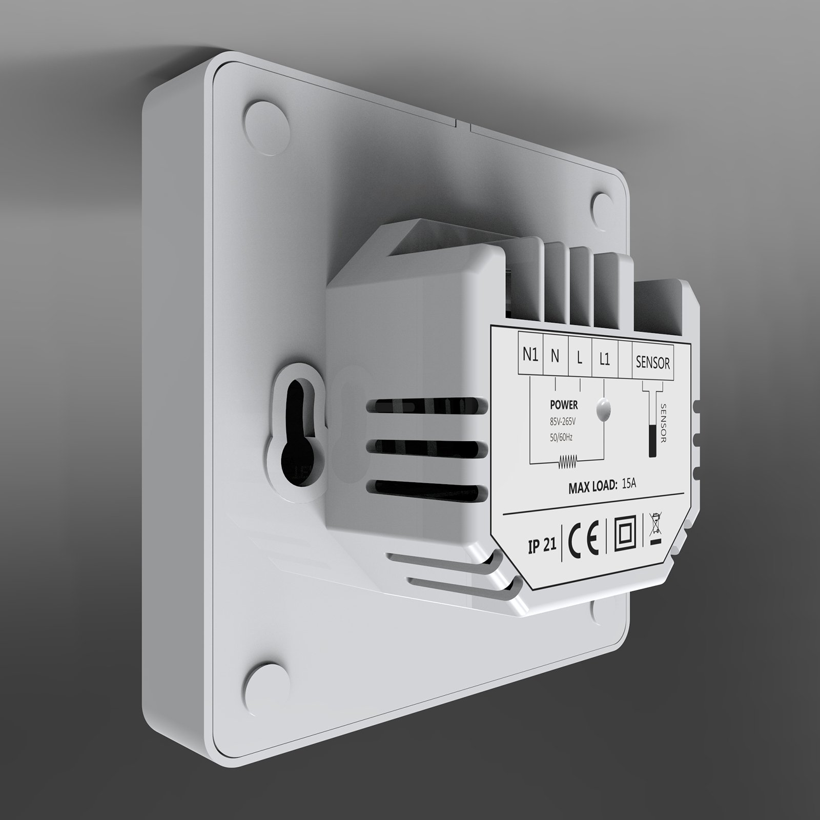 Raumthermostat ET81W für elektr. Fußbodenheizung mit TWIN-Technologie - Steuerung über Smartphone - Farbe wählbar zoom thumbnail 4