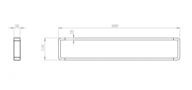 Hochwertiger Handtuchhalter SDLHH60 - Serie LINEAR - chrom - Zahnputzbecher / Seifenspender / Ablage optional zoom thumbnail 4