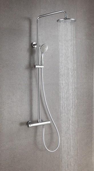 Design-Duschsäule Thermostat 4011 BASIC inkl. Handbrause - Auswahl Duschkopf rund