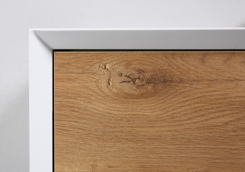 Badmöbel Fiona 1200 Weiß matt - Front Beton- oder Eiche-Optik - Seitenschrank, Waschbecken und Spiegel optional zoom thumbnail 3