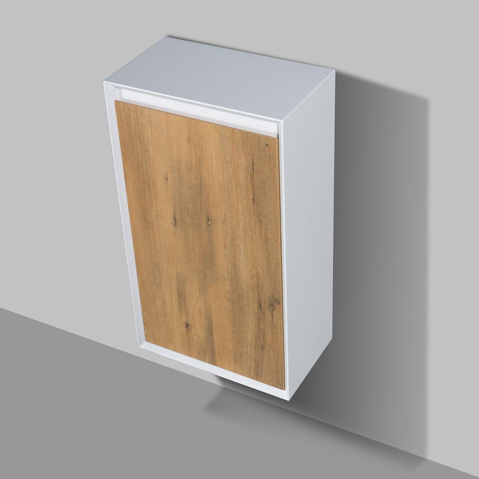 Seitenschrank Fiona - passend zum Badmöbel-Set - Beton-Optik / Eiche-Optik
