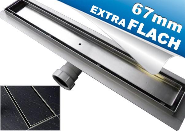 Edelstahl-Duschrinne GT01 für Duschkabine befliesbar - Breite 700 mm