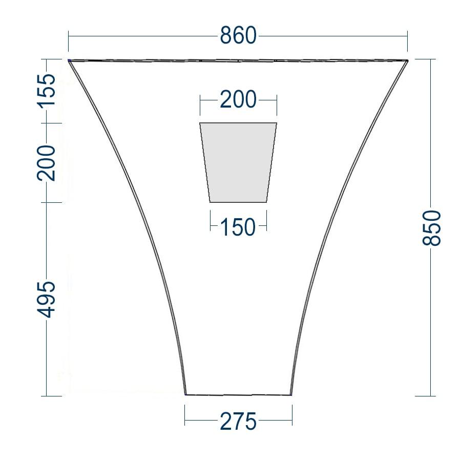 Standwaschbecken TWZ10 aus Mineralguss (Solid Stone) - 86x36x85cm zoom thumbnail 5