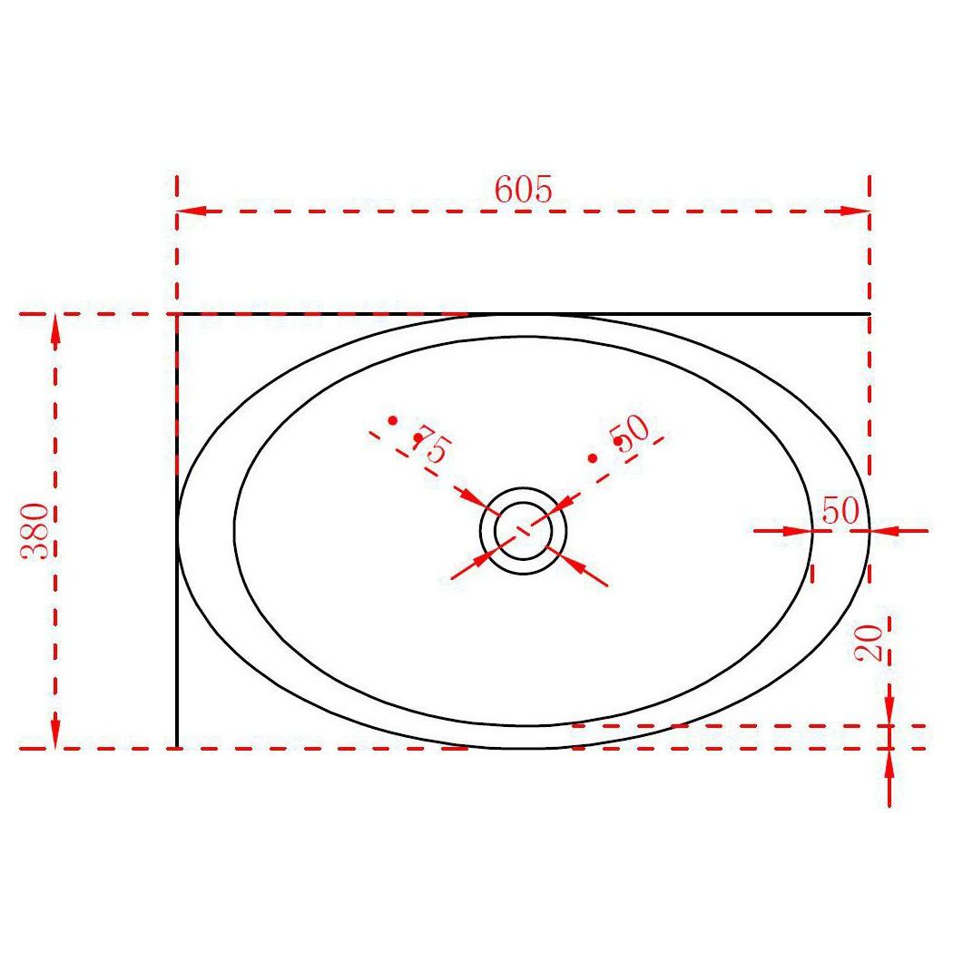 Aufsatzwaschbecken TWA05 aus Mineralguss (Pure Acrylic) - Matt - 60,5 x 38 x 14,5 cm zoom thumbnail 3