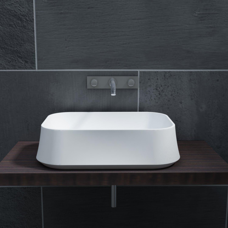 Aufsatzwaschbecken PB2161 aus Mineralguss Solid Stone – 60 x 42 x 16 cm – in Matt oder Hochglanz zoom thumbnail 3