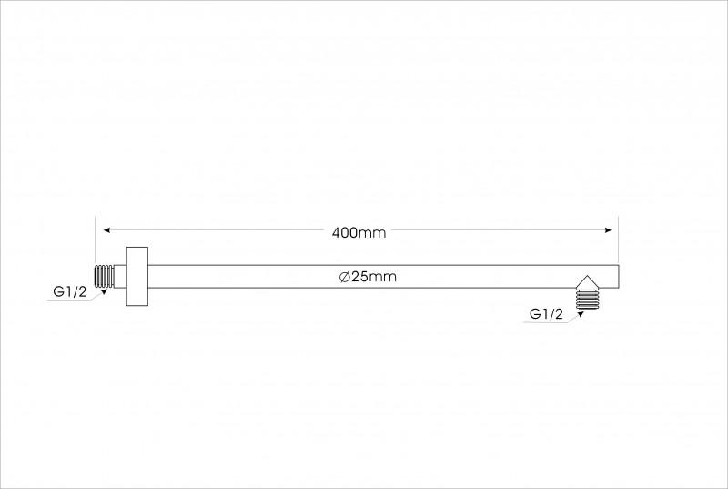 Brausearm Montagearm 2633 massiv - 40 cm zoom thumbnail 3