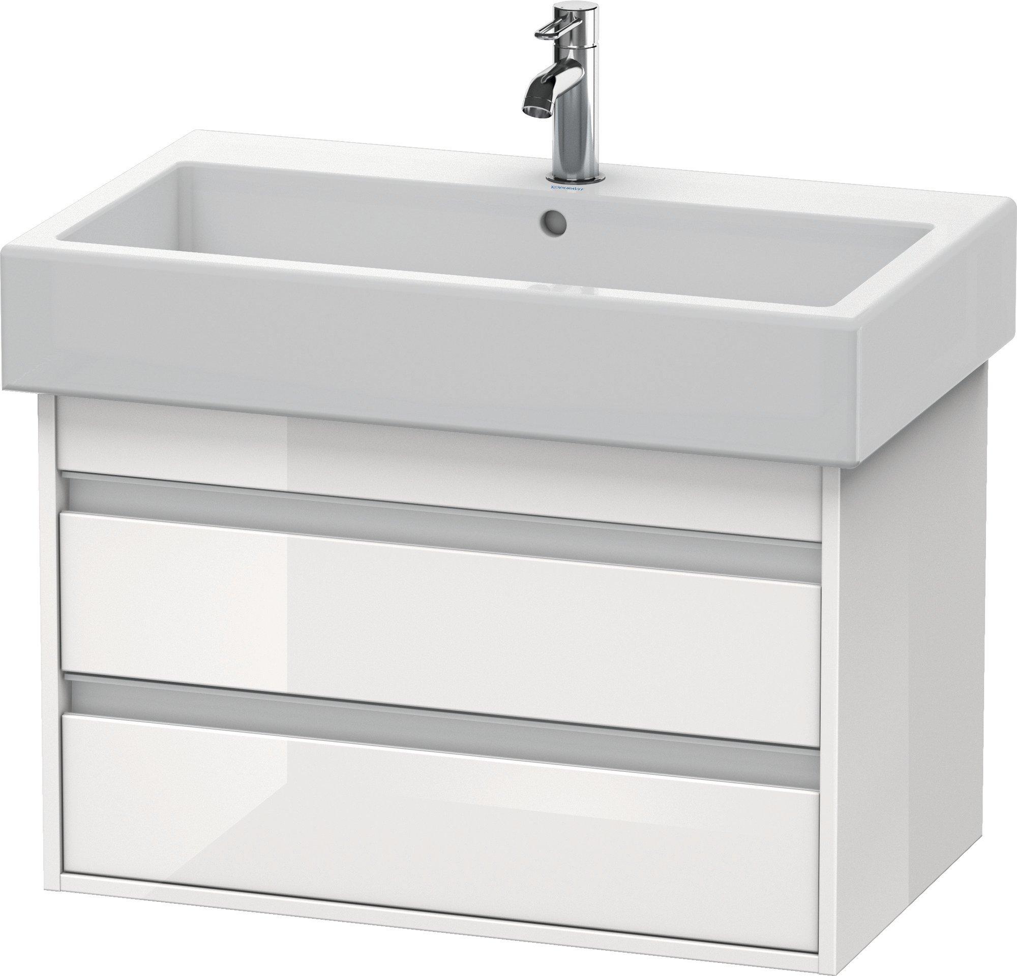 Duravit Ketho Badmöbel-Set 750 mit Vero Waschtisch - Optional mit Seitenschrank und Spiegel