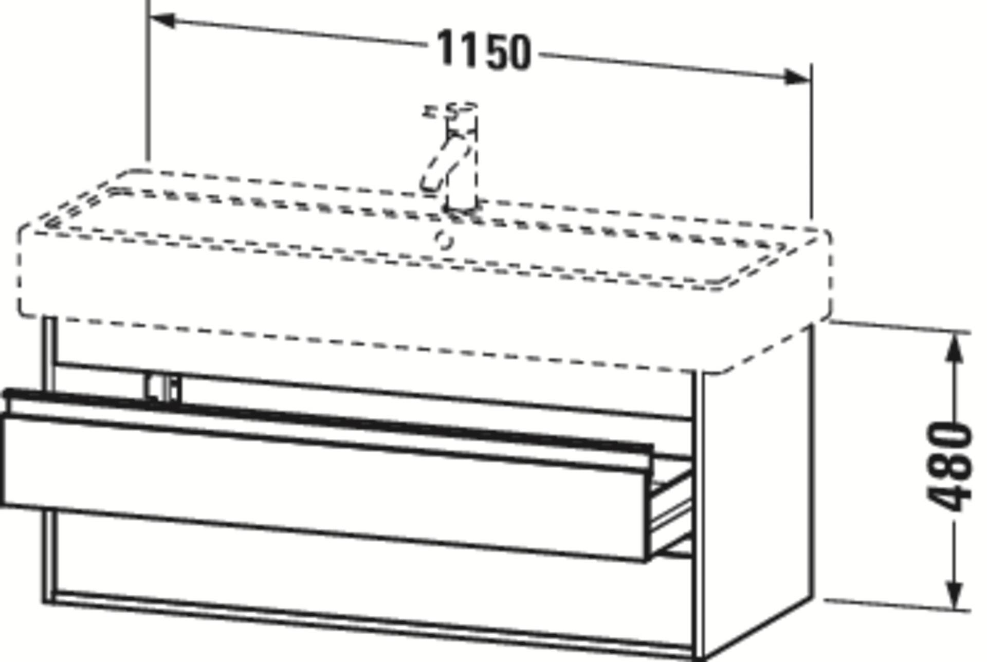 Duravit Ketho Badmöbel Set 1150 mit Vero Waschtisch - Optional mit Seitenschrank und Spiegel  zoom thumbnail 3