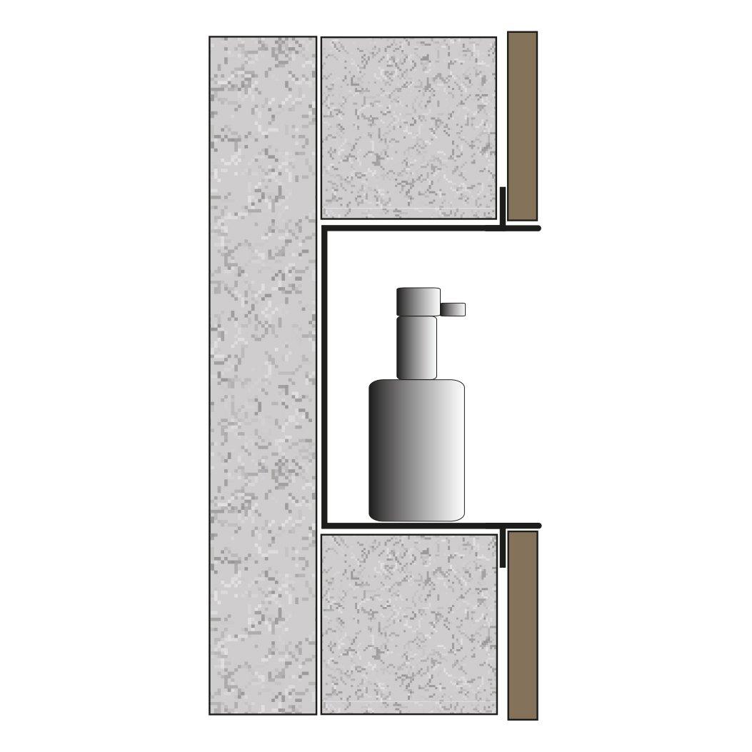 BERNSTEIN Wandnische aus Edelstahl BS303010 randlos - 30 x 30 x 10 cm - Farbe wählbar zoom thumbnail 6