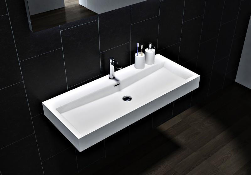 Wandwaschbecken Aufsatzwaschbecken BS6002 - Breite 76,5cm / 100cm zoom thumbnail 5