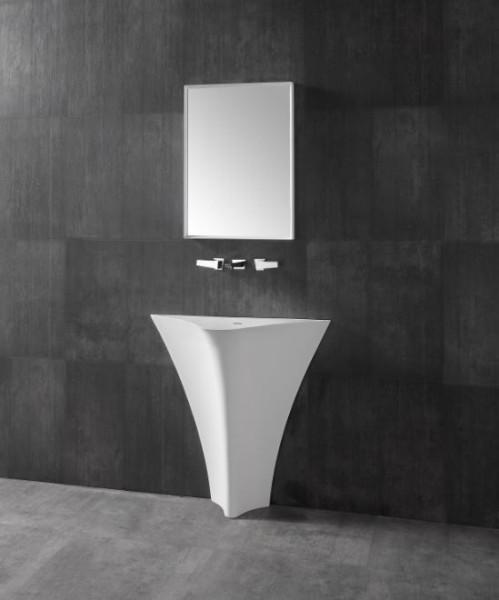 Standwaschbecken TWZ10 aus Mineralguss (Solid Stone) - 86x36x85cm