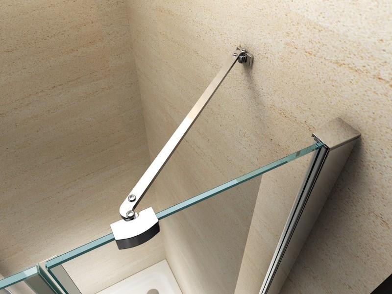 Duschkabine Eckdusche Nano Echtglas EX403 - 90 x 90 x 195 cm zoom thumbnail 3