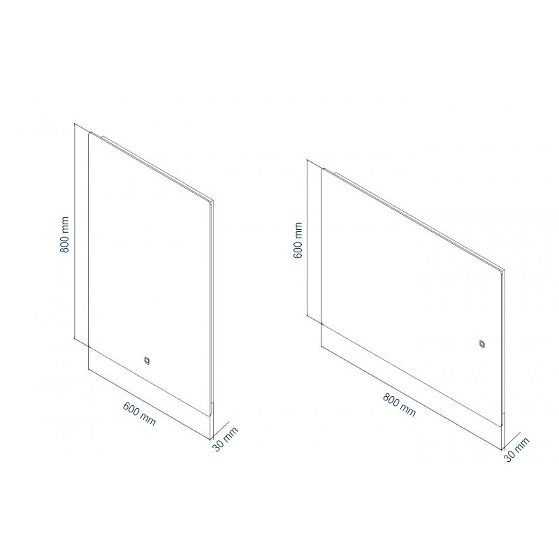 LED Lichtspiegel Badspiegel 2137 - Breite wählbar zoom thumbnail 5