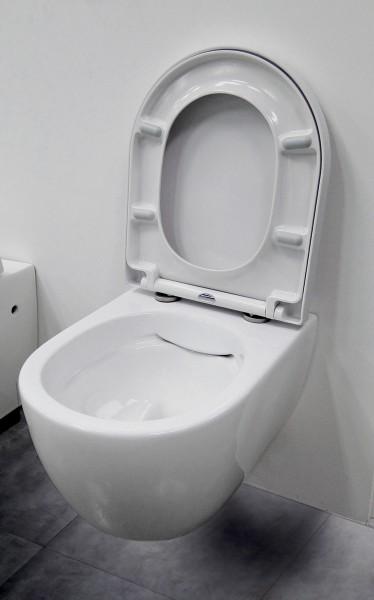 Spülrandloses Wand-Hänge WC NANO NT2038 - inkl. Softclose-Deckel - kurze Ausführung zoom thumbnail 3