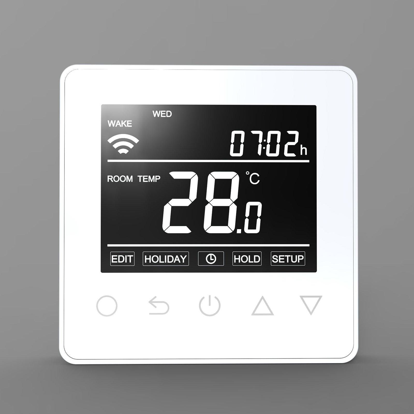 Thermostat ET61W White für elektrische Fußbodenheizung mit TWIN-Technologie - Steuerung über Smartphone