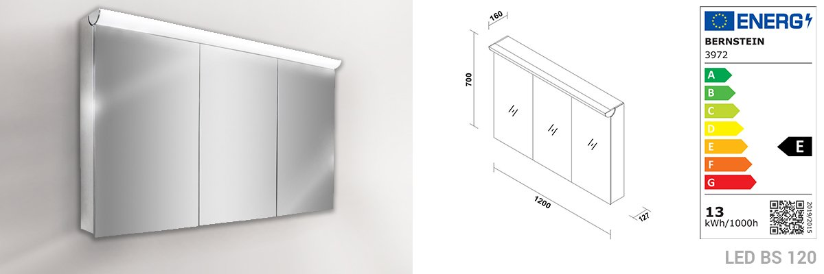 Badmöbel-Set N1200 Weiß - Spiegel und Seitenschränke optional zoom thumbnail 6