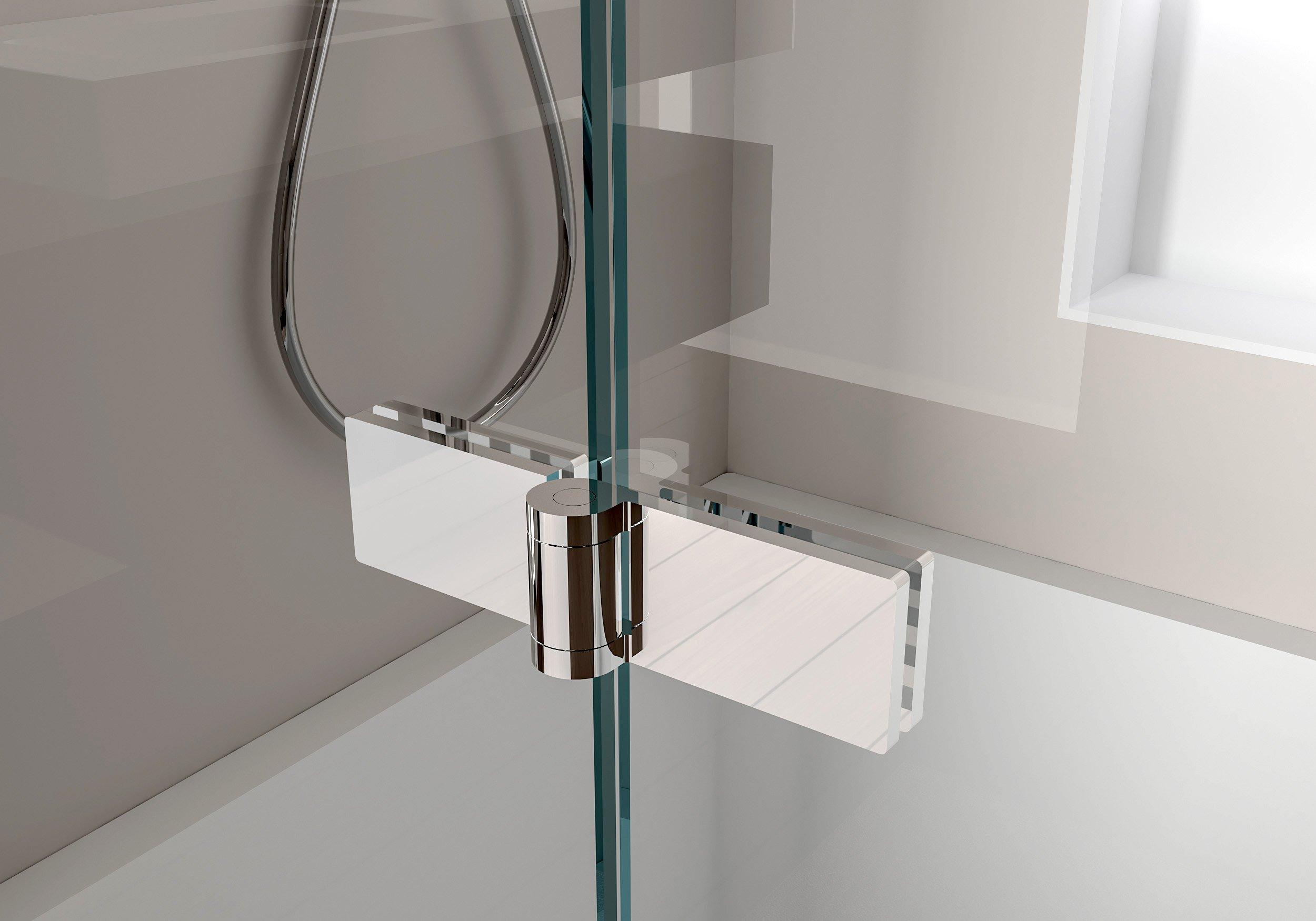 Duschabtrennung Duschwand Badewanne Nano Echtglas EX209 - 1200 x 1400 x 6 mm zoom thumbnail 6