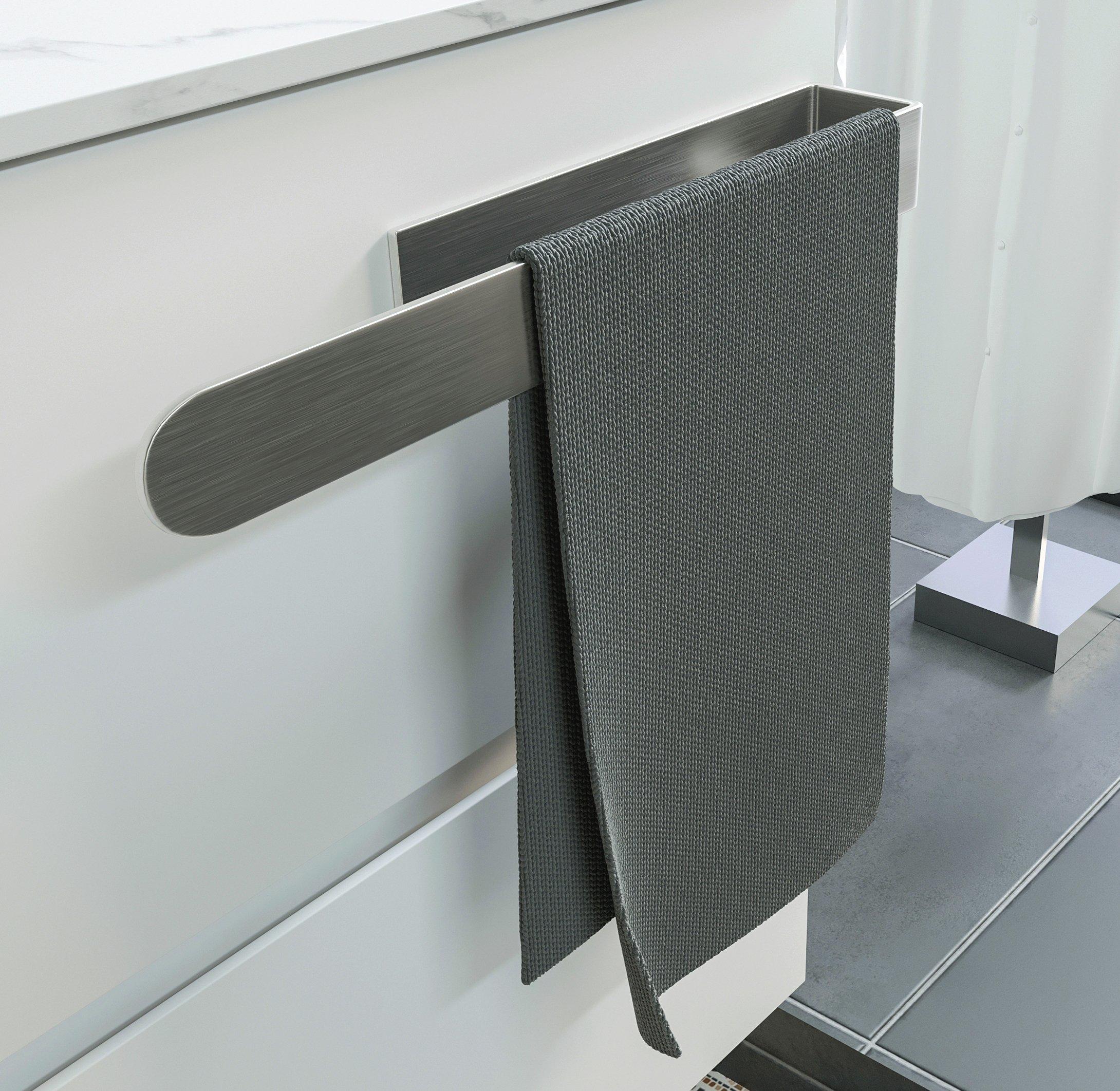 Selbstklebender Handtuchhalter HH21 Korpusmontage für Badmöbel - Farbe wählbar zoom thumbnail 4