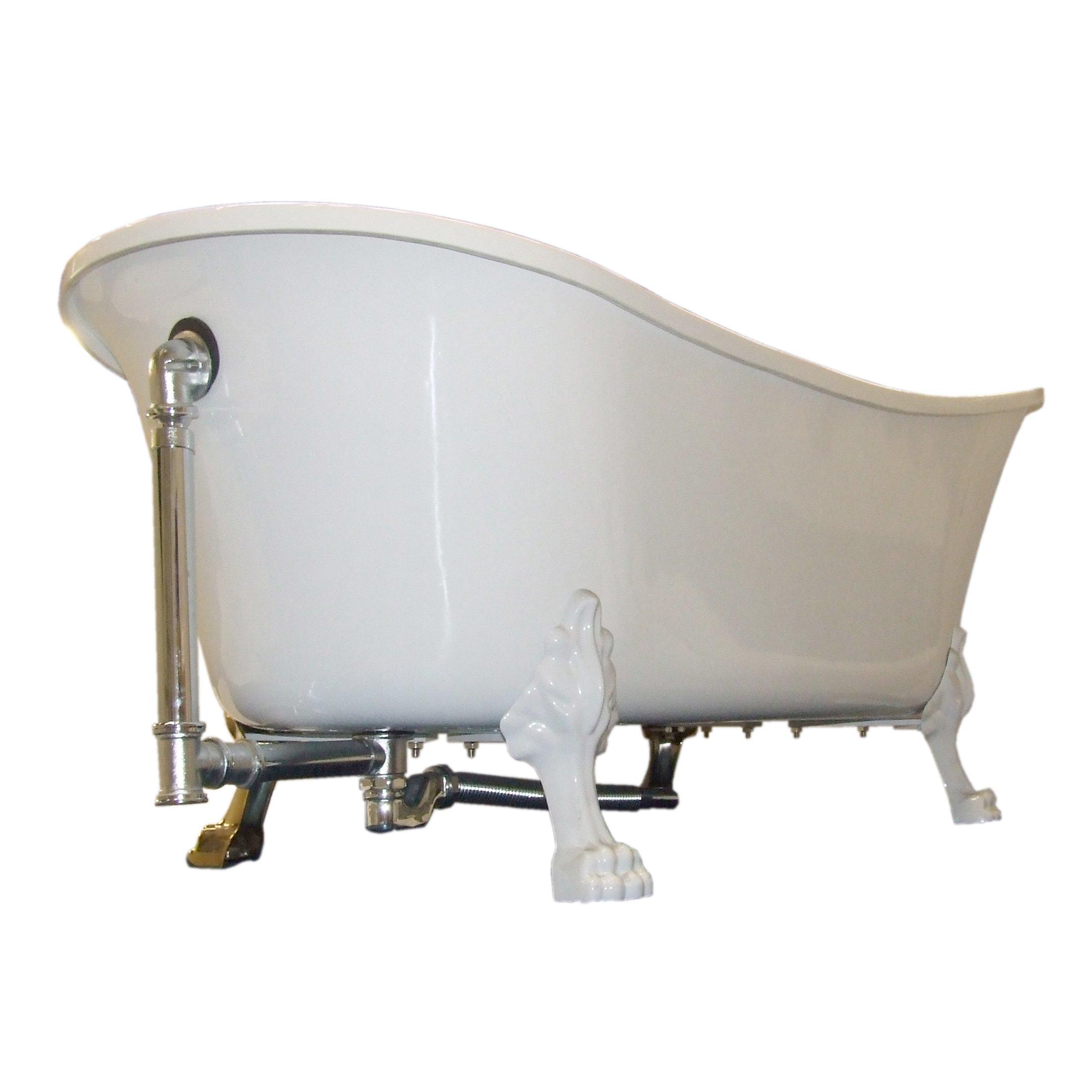 Design-Siphon für freistehende Badewanne PARIS - Chrom