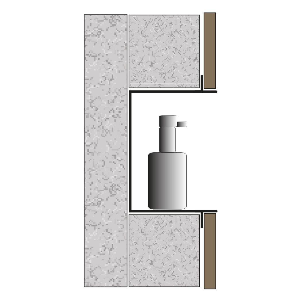BERNSTEIN Wandnische aus Edelstahl BS156010 randlos - 15 x 60 x 10 cm - Weiß zoom thumbnail 4