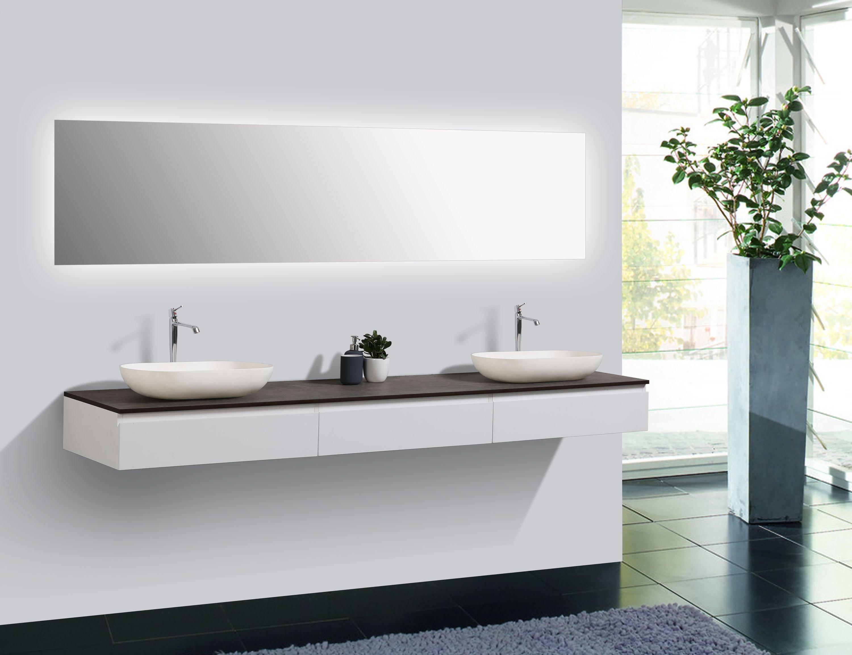 Badmöbel Vision 2250 Weiß matt - Aufsatzwaschbecken optional