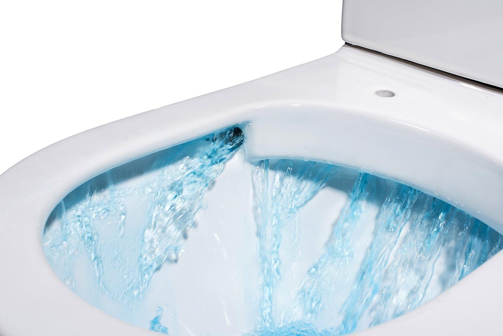 Spülrandloses Wand-Hänge WC B-8030R Weiß - mit Nano-Beschichtung - inkl. Softclose-Deckel zoom thumbnail 4
